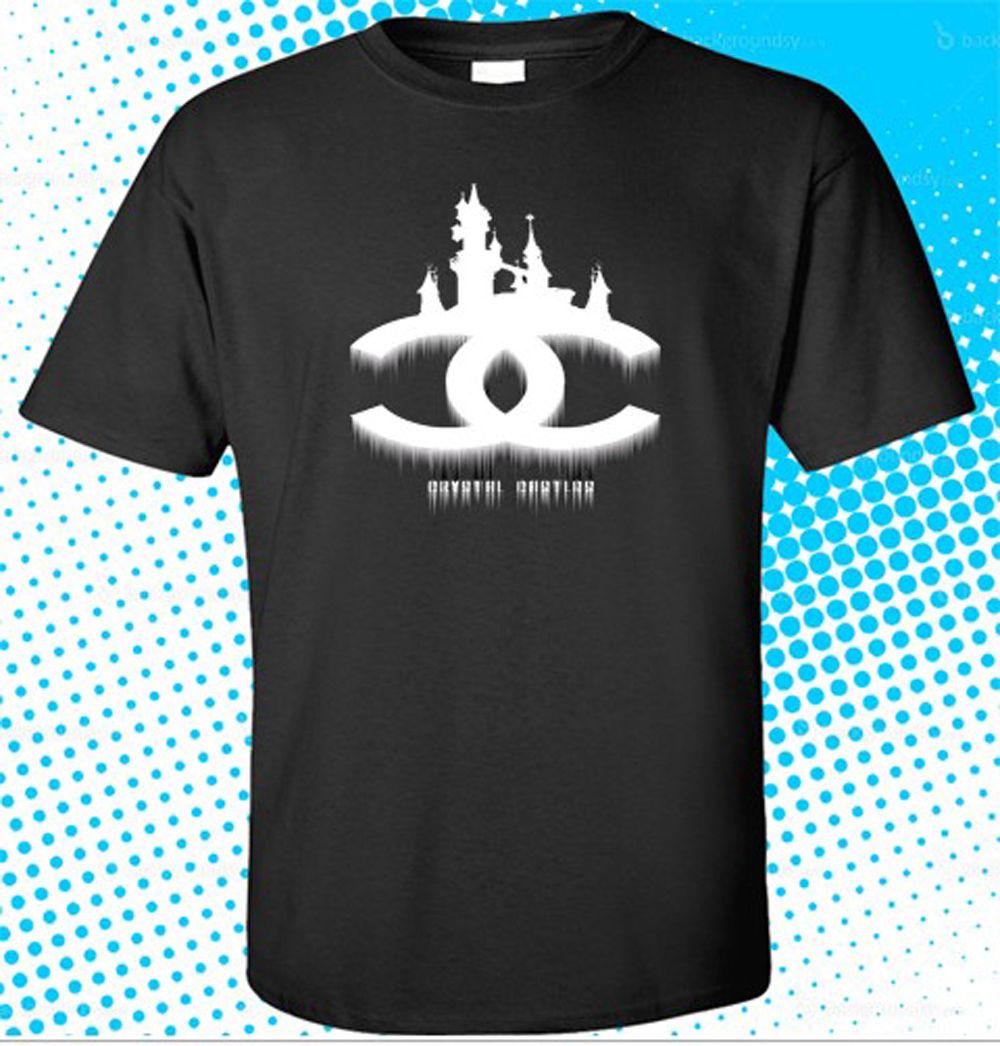 Summer 2018 New New Crystal Castle Logo Music Dance Mens Black T-Shirt Size S to 3XL Print Tops Tee Shirt hip hop