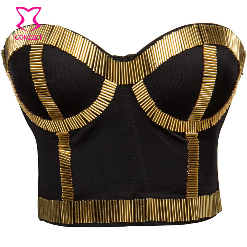 Gorgerous Rhinestone Bead Pearls Bustier Push Up Wedding Bralette Womens Bra Cropped Top Vest Plus Size Durable Service Tops & Tees Camis