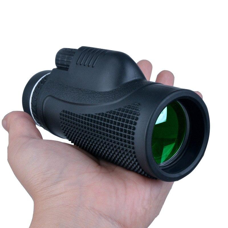 Monoculaire 40x60 pour Téléphone Portable lentilles Optiques Film Vert Télescope Chasse Oiseau Regardant Longue-Vue