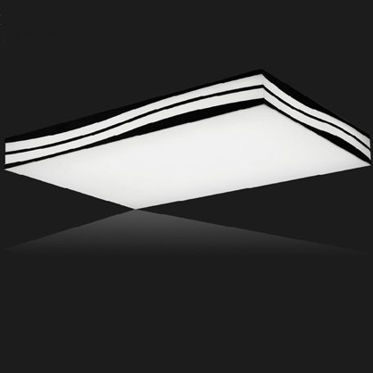 Creative Wave shape LED ceiling lights remote control luminaire plafonnier suspended ceiling lamps square/rectangle  110v/220vCreative Wave shape LED ceiling lights remote control luminaire plafonnier suspended ceiling lamps square/rectangle  110v/220v