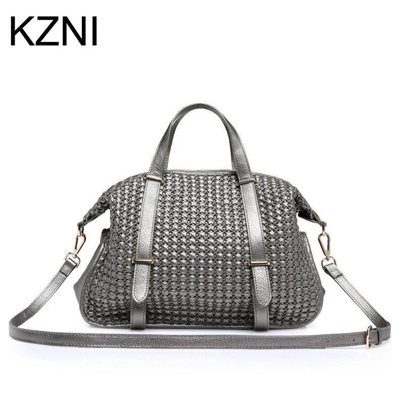 Здесь можно купить   KZNI Genuine Leather Purse Crossbody Shoulder Women Bag Clutch Female Handbags Sac a Main Femme De Marque L121152 Камера и Сумки