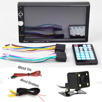 Rear View Camera Handsfree Screen System 7 Inch Double DIN Car Radio Player MP3 WMA WAV