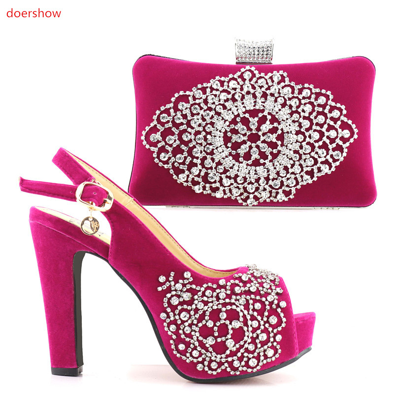 doershow Latest Shoes and Bag To Match Italian African Wedding Shoes and Bag Sets top Quality Matching Italian Shoes !HV1-2 beautiful italian shoes with matching bags to match new african shoes and matching bag sets for wedding doershow hvb1 49