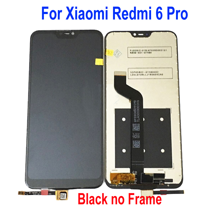 Image 3 - Original Xiaomi Mi A2 Lite 5.84 inch touch screen digitizer assembly For Xiaomi Redmi 6 Pro with Frame sensor repair-in Mobile Phone LCD Screens from Cellphones & Telecommunications