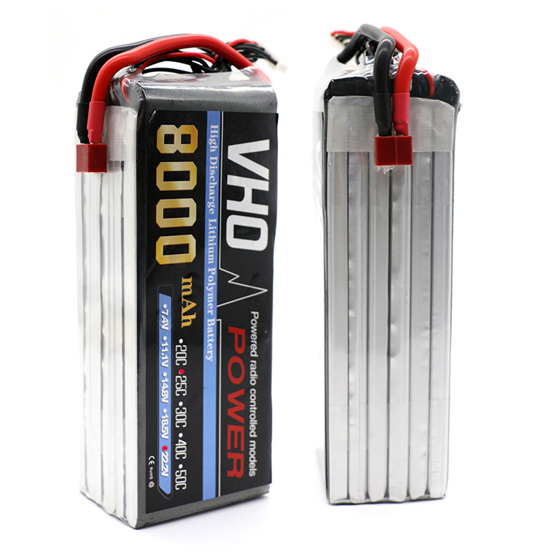 VHO 6S Lipo 22.2V 8000Mah Lithium Battery EC5 or T or XT60 XT90 plug For RC Helicopter Qudcopter Drone Car Boat XT60/XT90/XT150 2pcs t plug 5200mah 11 1v 3s 30c lithium li po battery for diy racing rc helicopter qudcopter drone truck car boat parts