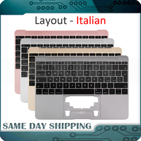 New Gold/Gray Grey/Silver/Rose Gold Color for Macbook 12'' A1534 Itlian Italy Keyboard with Topcase Top Case 2015 2016 2017 Year