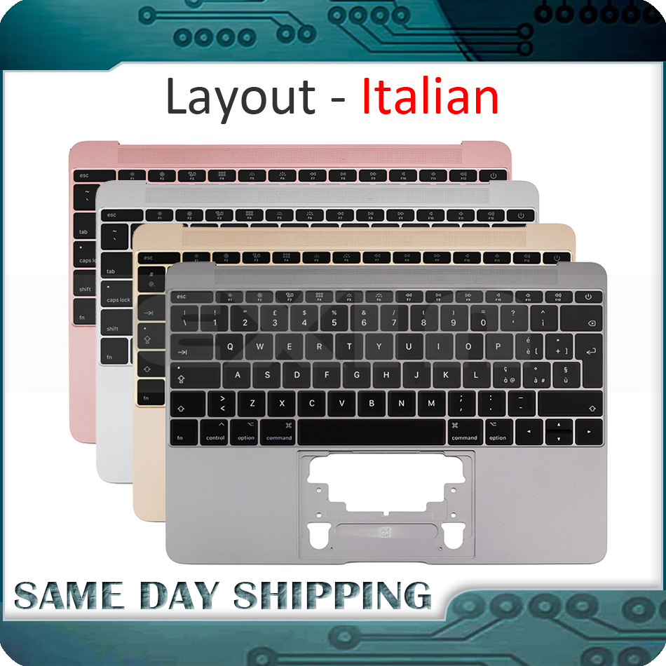 Nouveau couleur or/gris gris/argent/or Rose pour Macbook 12 ''A1534 clavier Itlian italie avec Top Case 2015 2016 2017 an on AliExpress - 11.11_Double 11_Singles' Day 1
