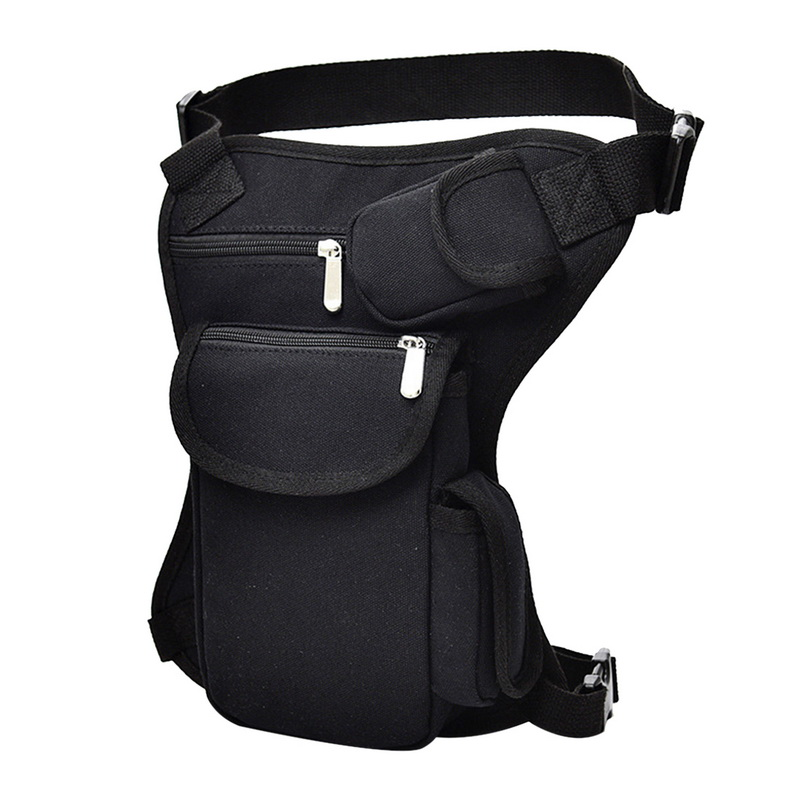Puimentiua Men Canvas Drop Leg Bag Waist Casual Pack Belt