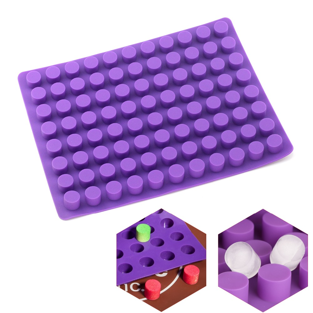 88 cavities Mini Round mini cheese cakes molds baking silicone mold for Chocolate Truffle Jelly and Candy ice mold