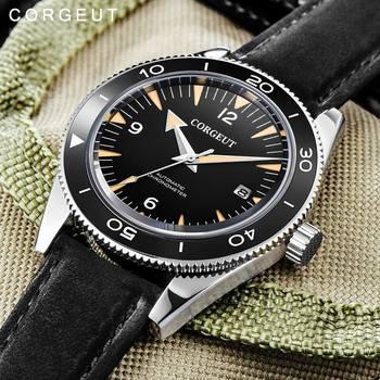 Corgeut lüks marka askeri miyota 8215 mekanik İzle erkekler otomatik spor tasarım erkek saat mekanik kol saati