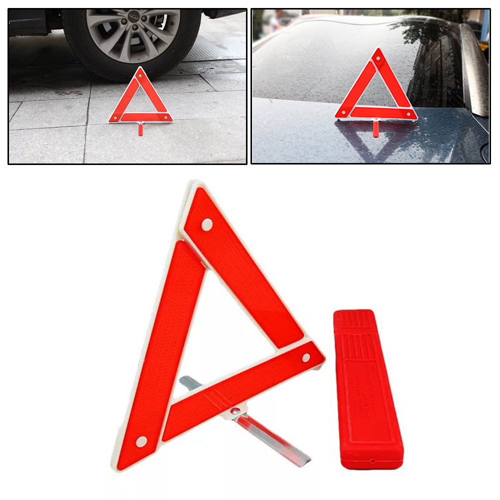 Car Auto Emergency Breakdown Warning Triangle Red Reflective Safety Hazard Kit