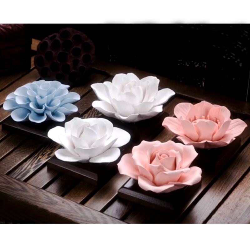 Przy Silica Gel 3D Molds Lotus Soap Mold Jasmine Silicone Rose Flowers Candle Aroma Mould Camellia Handmade Soap Making Moulds
