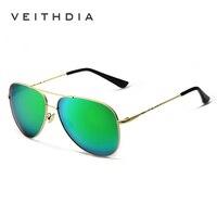 2017 VEITHDIA Fashion Pilot Men's Sunglasses Polarized Eyewear Classic Sun Glasses For Men/Women Oculos de sol masculino VT3610