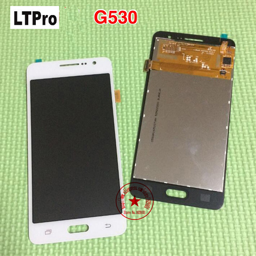 100% Tested Work LCD <font><b>Display</b></font> Touch Screen Digitizer Assembly For <font><b>Samsung</b></font> Galaxy Grand Prime <font><b>G530</b></font> G530H G530F Phone Panel Parts image
