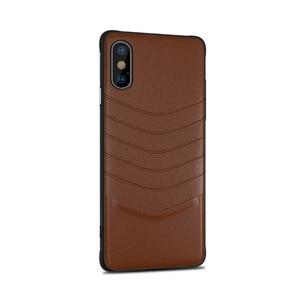 Image 5 - Caixa Do Telefone de luxo para iphone 6 7 8 7 6s s Plus xr xsmax pc couro telefone tampa traseira anti arranhão sujeira reistant negócio saco coque