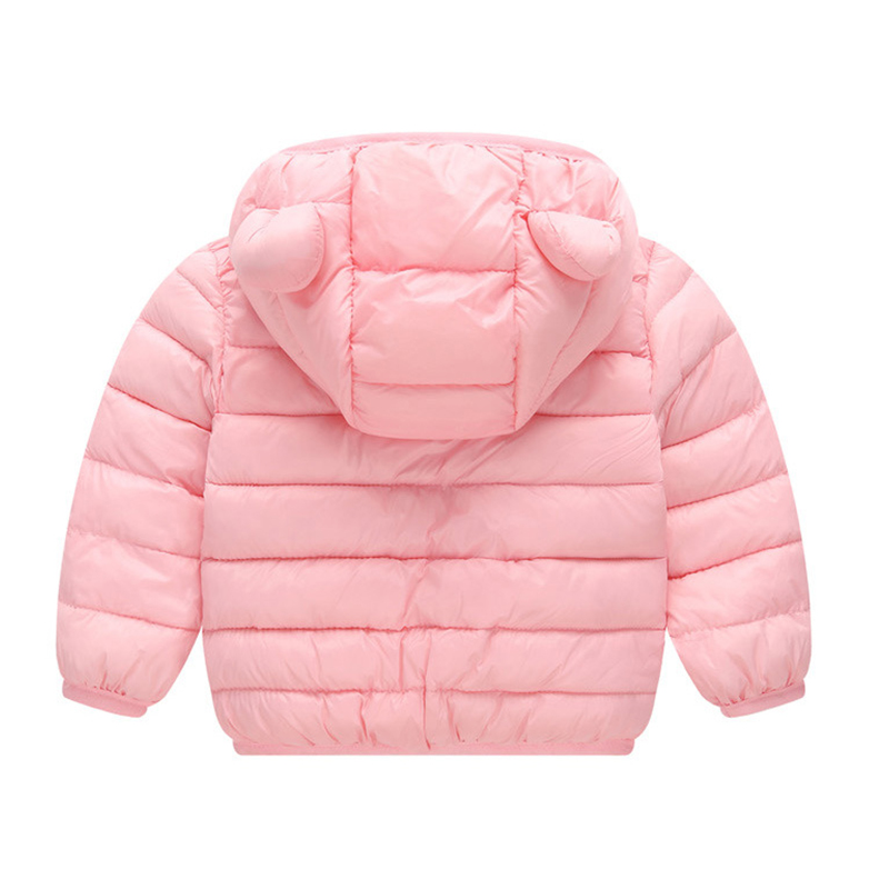 SportsX Little Girls Hooded Casual Thick Solid Down Outerwear Jacket