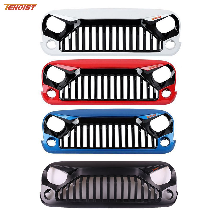 High Strength Black White Red Blue Colorful ABS Plastic Racing Grille For Wrangler JK 07 16