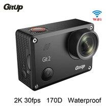 Gitup Git2 Pro Водонепроницаемый 2 К 30fps Wi-Fi Камера Действий 1080 P Full HD Камера Спорта 1.5 дюймов ЖК-Экран действие Cam