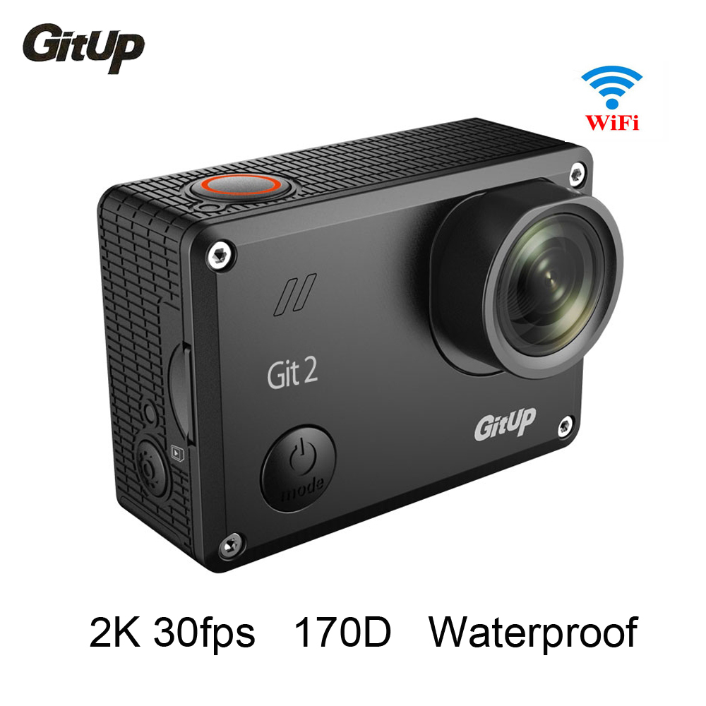 Gitup Git2Pro Waterproof 2K 30fps Wifi Action Camera 1080P Full HD Sports Camera 1.5 inch LCD Screen Action Cam campark wifi sport action camera 2k hd 30fps hd 1 5 tft lcd 1080p 60 fps 16mp action cam digital camcorder hdmi output
