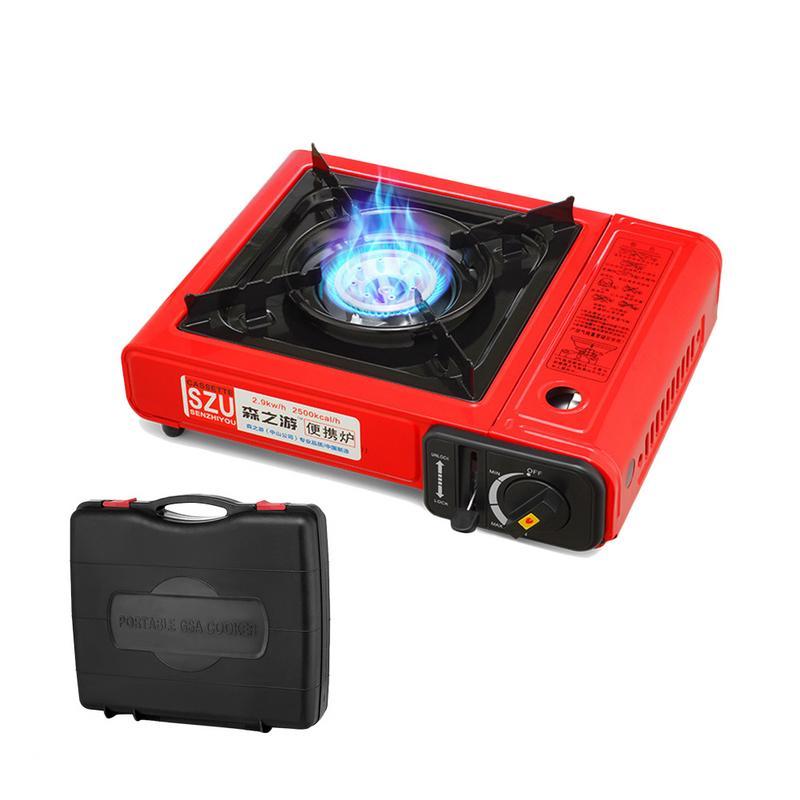 Cuisinière à gaz Portable extérieure cuisinière à gaz coupe-vent Barbecue à gaz sauvage cuisinière Portable cuisinière