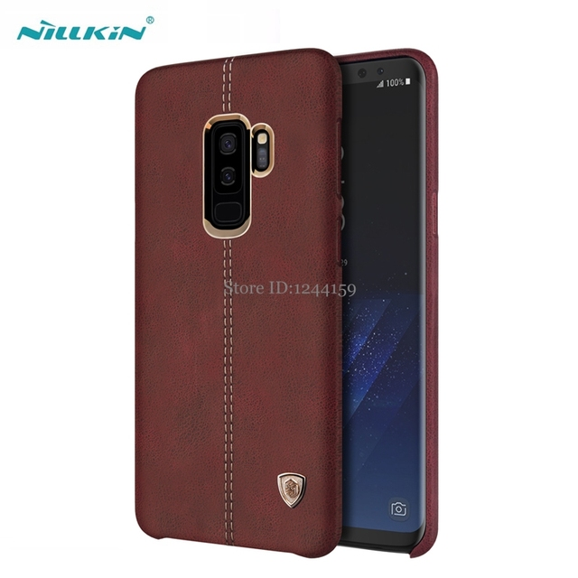 low priced 2a171 ce26d US $10.84 15% OFF|For Samsung Galaxy S9 Plus Case Original Nillkin Englon  Leather Cases For samsung S9 S9+ Plus Phone Back Covers-in Fitted Cases  from ...