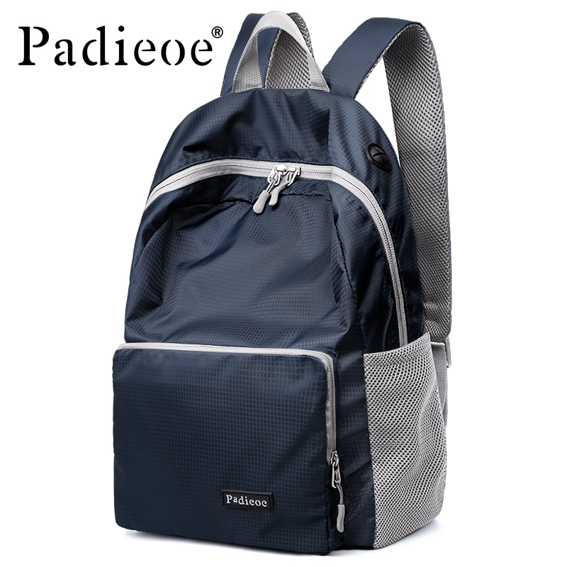 Backpack Student College Waterproof Nylon Backpack Men Women Padieoe Escolar Mochila Quality Brand Laptop Bag School Backpack 2017 fashion women waterproof oxford backpack famous designers brand shoulder bag leisure backpack for girl and college student