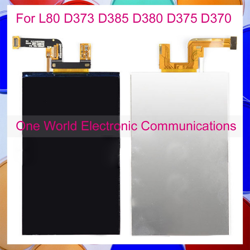 One World High Quality New For LG L Series III L80 D373 D385 D380 D375 D370 Phone LCD Display Screen Tracking Code Free Shipping