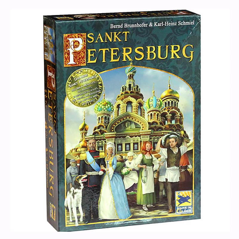 Saint Petersburg Board  Game Cards Game 2-5 Players Family Game For Children With Parents Free Shipping castles of burgundy board game 2 4 players cards games send english instruction funny game for party family with free shipping