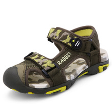 ULKNN 2019 new boys sandals summer childrens Baotou beach in the big kids soft bottom non-slip