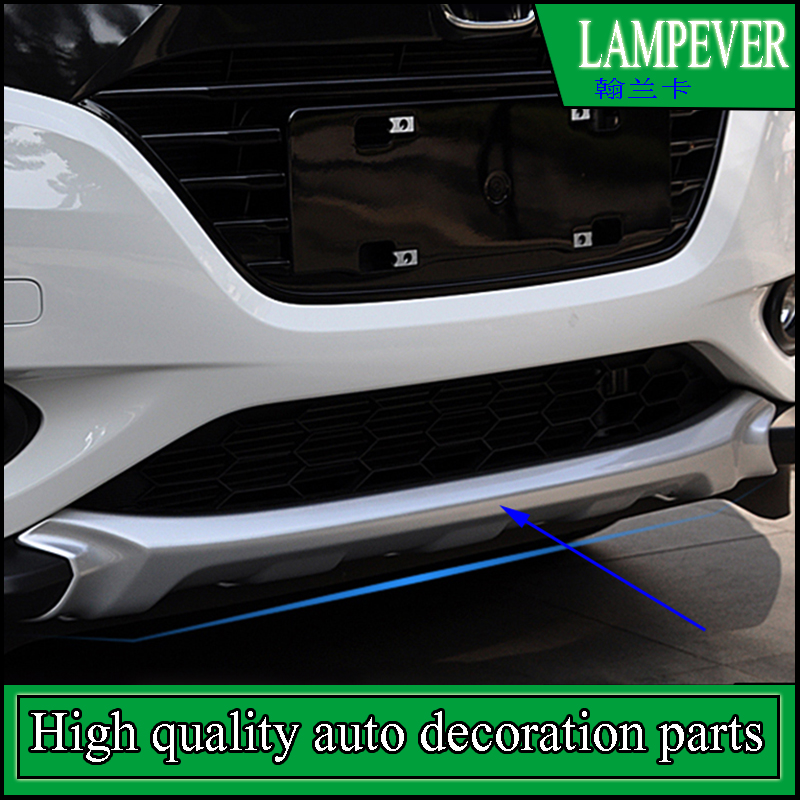 Car-styling Front Plus Rear Body Bumper protection Trim For Honda HR-V HRV 2014-2016 Protect Car Fender Guard Bumper Cover Trim plus open front tassel trim kimono