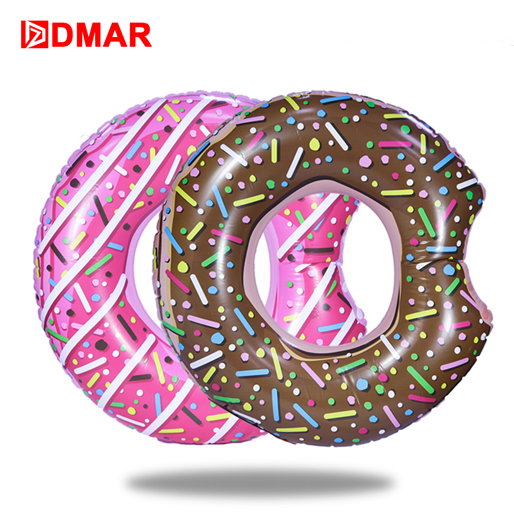 DMAR 107cm 42 Inflatable Donut Swimming Ring Giant Pool Float Toys Circle Beach Sea Party Inflatable Mattress Water Adult Kid