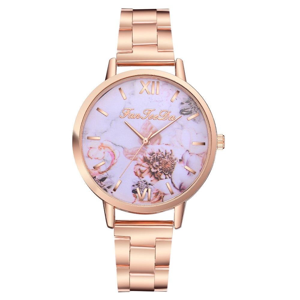 Bracelet Watch Printed Ladied Fashion Fanteeda Simple Quartz -4a30 Dial Casual
