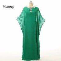 2017 Kaftan Long Dubai Muslim Kaftan Abayas Robe Abayas for Woman Islamic Clothing Arabic Turkish For sale Evening dresses Green