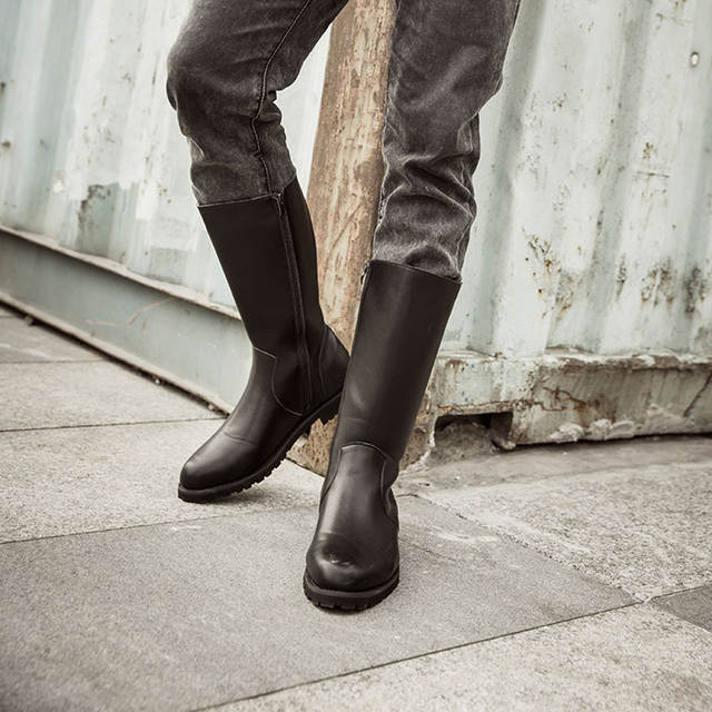 Image result for Motorcycle Boots Men PU Leather Windproof