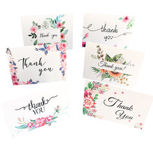 5pack/lot Fresh Flower Paper Greeting Card Suit Party invitation Supply White Cover 6 Greeting Cards+6 Envelopes(China)