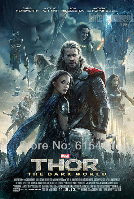 "21 Thor 2 The Dark World 2013 movie 14""x21"" inch wall Poster with Tracking Number"