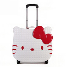 Child luggage female/male child 18 small travel bag trolley luggage universal wheels password box suitcase,cartoon trolley bags