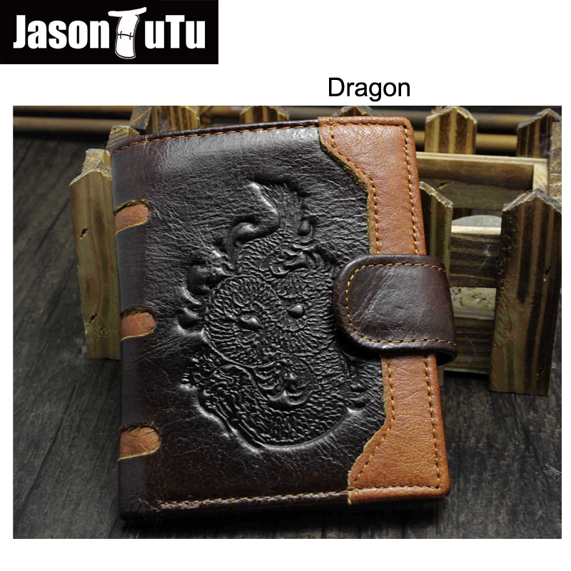 New Arrival Genuine Leather Wallet Wolf&Eagle Totem Men Wallets Luxury Dollar Price Vintage Male Purse Coin Bag Promotions fashion design men genuine leather cowhide wallet dollar price wolf short coin purse fold portfolio carteira masculina handy bag