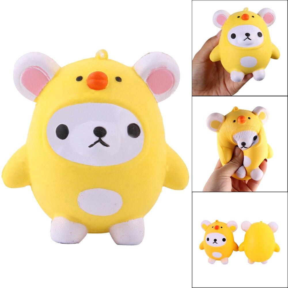 Cute Mochi Squishy Bear Squeeze Healing Fun Kids Kawaii kids Adult Toy Stress Reliever Decor Luminous Slow Rising Animals DE22b