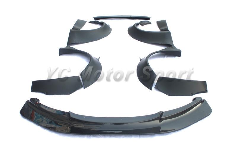FRP Fiber Glass LB P Style Body Kit Fit For 2007-2013 E92 E93 M3 Front Lip Fender Flare Trunk Wing Rear Bumper Corner Spats