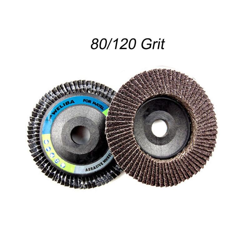 1pc Flap Discs 10mm 4inch Sandpaper Sanding Discs 60/80/120 Grit Grinding Sanding Polishing Wheels Angle Grinder