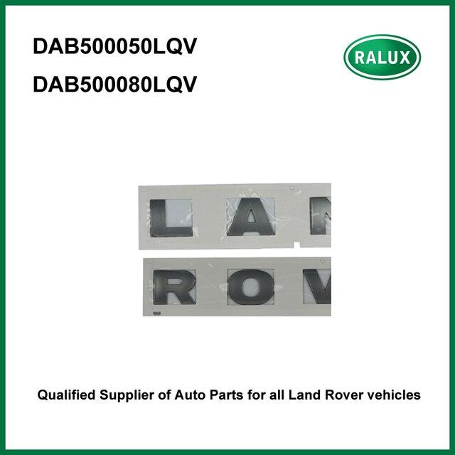 """אוטומטי קדמי שם צלחת לנד רובר דיסקברי LR3 LR4 רכב מותג סמלי מכתב מדבקת DAB500050LQV """"לנד"""" DAB500080LQV """"רובר"""""""