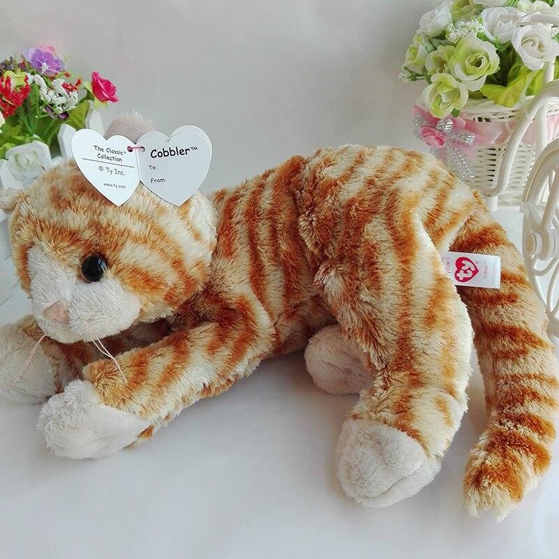 New Arrive Cobbler Cat TY 1PC 32CM Plush Toys Stuffed Animals KIDS TOYS VALENTINE GIFT Children Toy