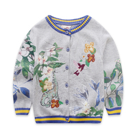 Neue Herbst Baby Mädchen Strickjacke Stickerei Pullover Für Mädchen Mode Kinder Gestrickte Pullover Kinderbekleidung 2-8 jahre