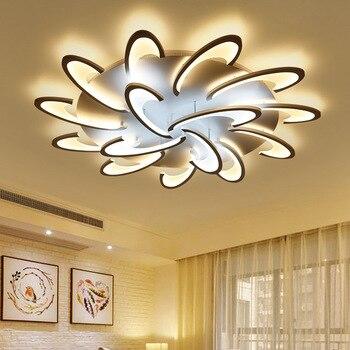Pilot zdalnego sterowania oświetlenie sufitowe LED z akrylowa lampa nabłyszczania lampy sufitowe do salonu łóżko pokój równo na ścianie lamparas de techo