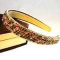 Nova Moda de Luxo Colorido de Cristal Rhinestone Mulheres Lady Menina Do Cabelo Acessório faixas de Cabelo Cabelo da moda Boutique de Jóias Cabelo