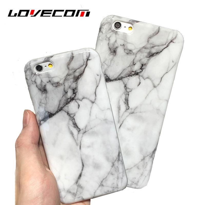 LOVECOM Suave IMD Teléfono Casos de La Cubierta de Piedra De Granito De Mármol P