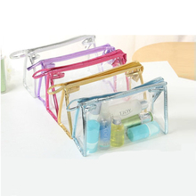 2016 New Transparent Waterproof PVC Cosmetic Bag Envelope Receive Toiletry Bags Makeup Bag Organizer 5 Colors To Choose ^32