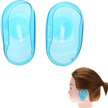 1pair/set Pro Salon Clear Silicone Ear Cover Ear Protection Hair Dye Shield Protect Color Styling Tool Accessories Light Green(China)