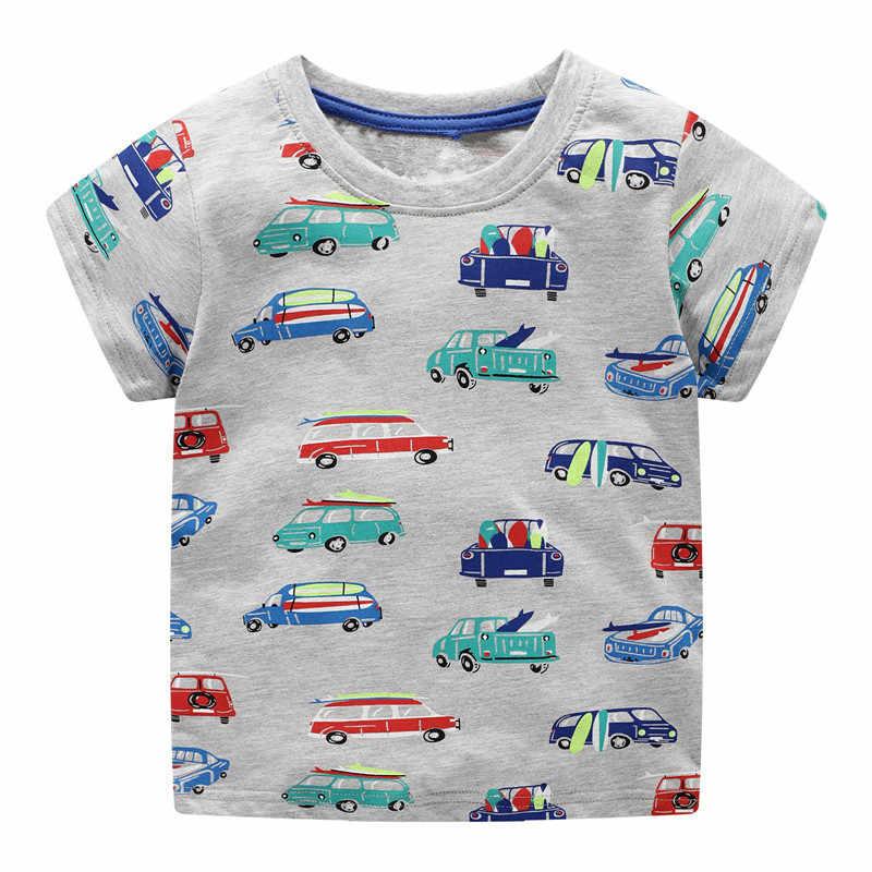 Vidmid ボーイズ tシャツトップス服子供 2-7Y tシャツ車綿トラクター tシャツ洋服子供の恐竜の夏 tシャツ
